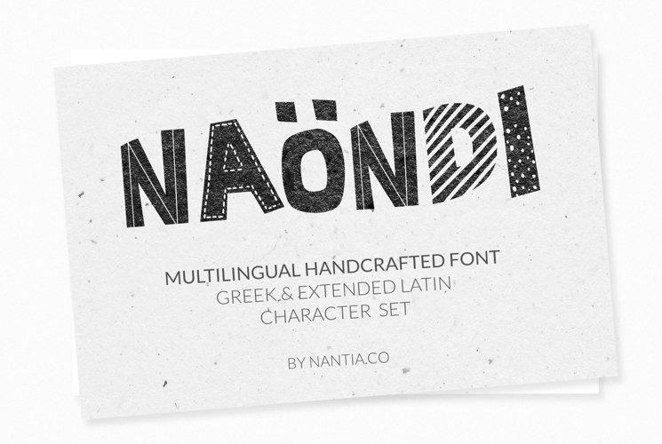 Naondi Decorative Greek Font example image 1