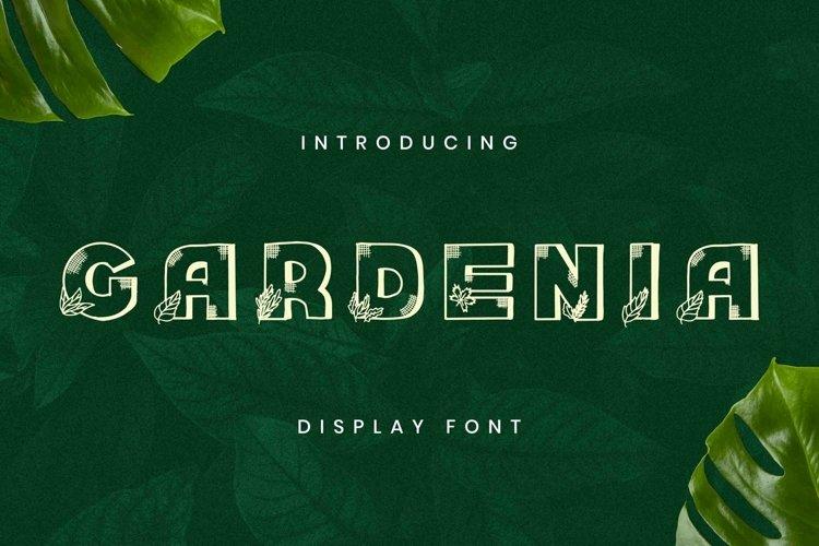 Web Font Gardenia Font example image 1