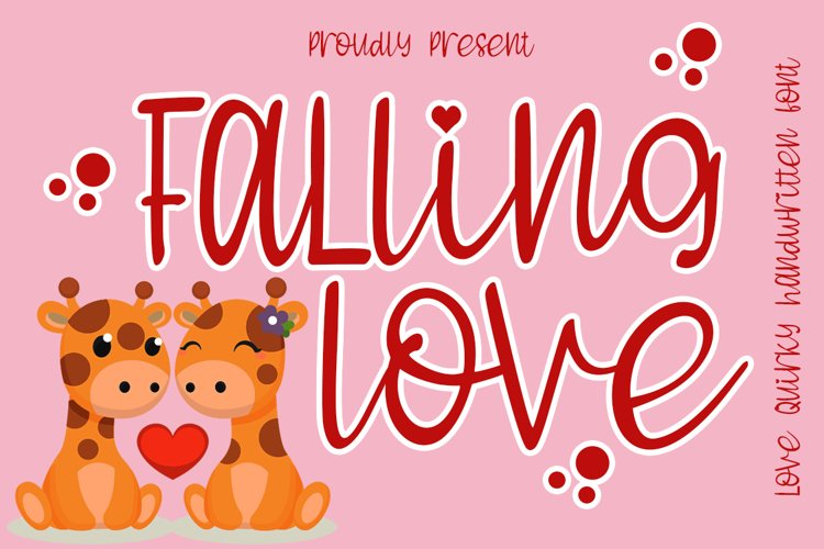 Falling Love Quirky Handwritten Font example image 1