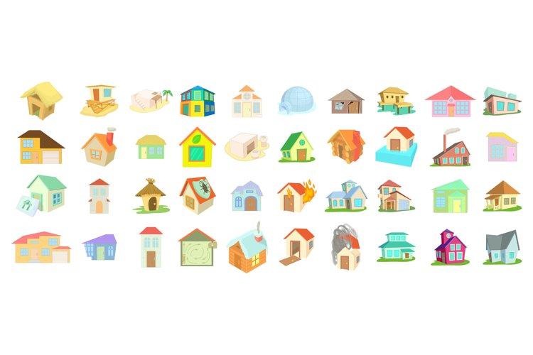 House icon set, cartoon style example image 1