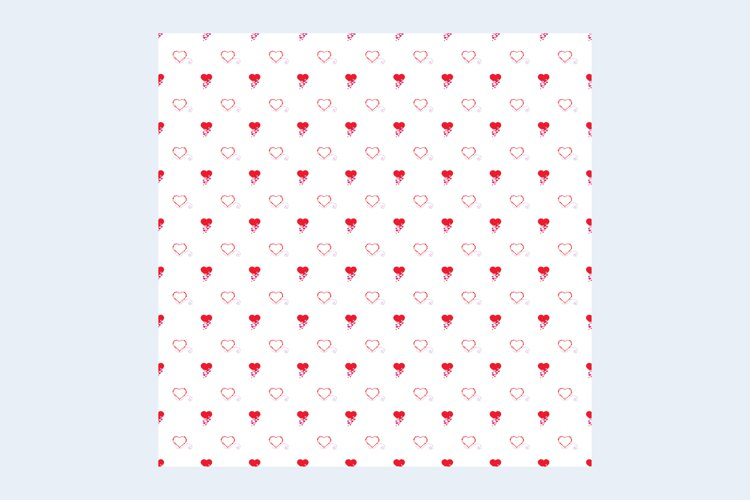 Paper background with red hearts example image 1