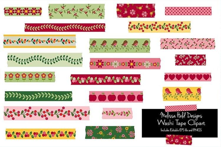 Woodland Washi Tape Clipart example image 1