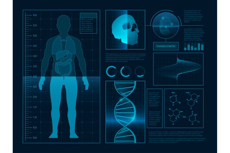Digital abstract illustrations for health infographic. Pictu example image 1