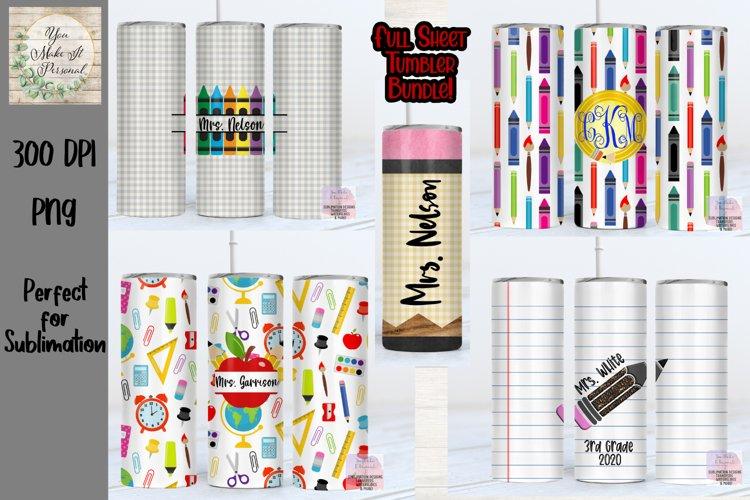 Tumbler Bundle, Teacher Designs, Perfect for Sublimation