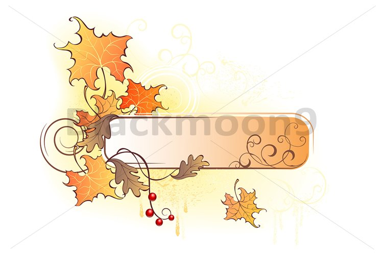 Banner with the Autumn Leaves example image 1