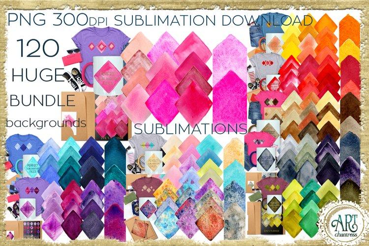 Sublimation BUNDLE Huge - 120 PNG Watercolours backgrounds