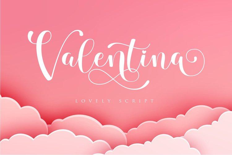 Valentina - script fonts example image 1