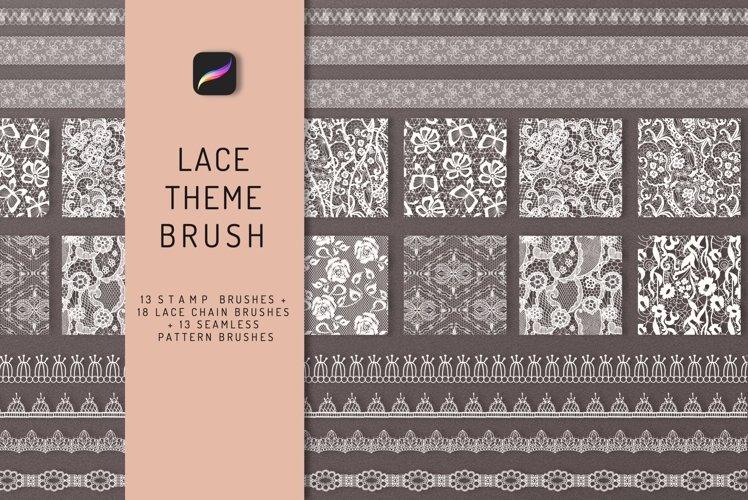 Lace Theme Procreate Brush Bundle example image 1