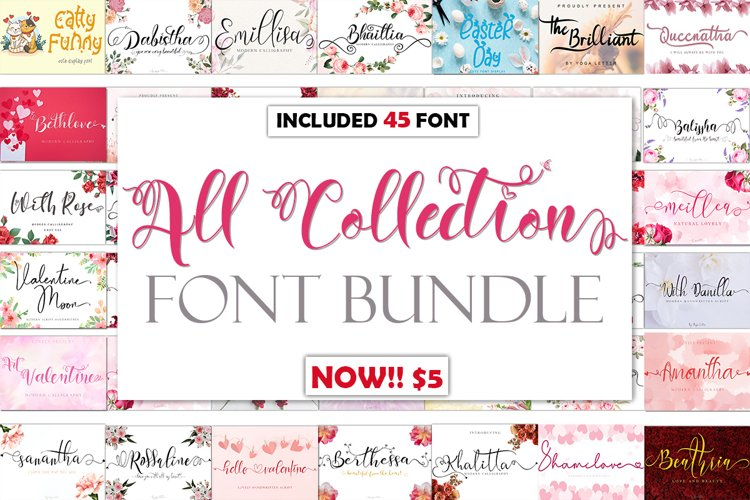 All Collection Font Bundle example image 1