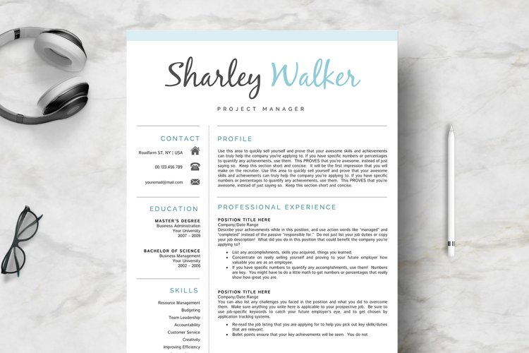 Creative Resume Template example image 1