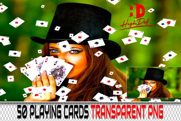 50 PLAYING CARDS PNG PHOTOSHOP OVERLAYS BACKGROUNDS BACKDROP