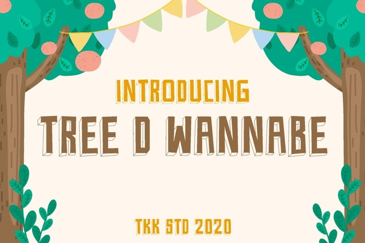 Tree D Wannabe - Kids Block Font example image 1