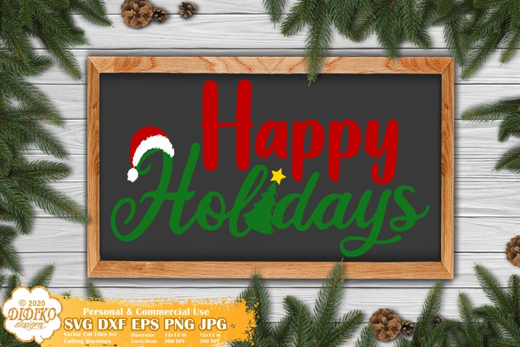 Christmas SVG | Happy Holidays SVG | Merry Christmas SVG example image 1