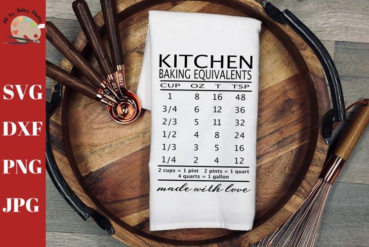 Baking Equivalents Baking Measurements Kitchen conversion example image 1