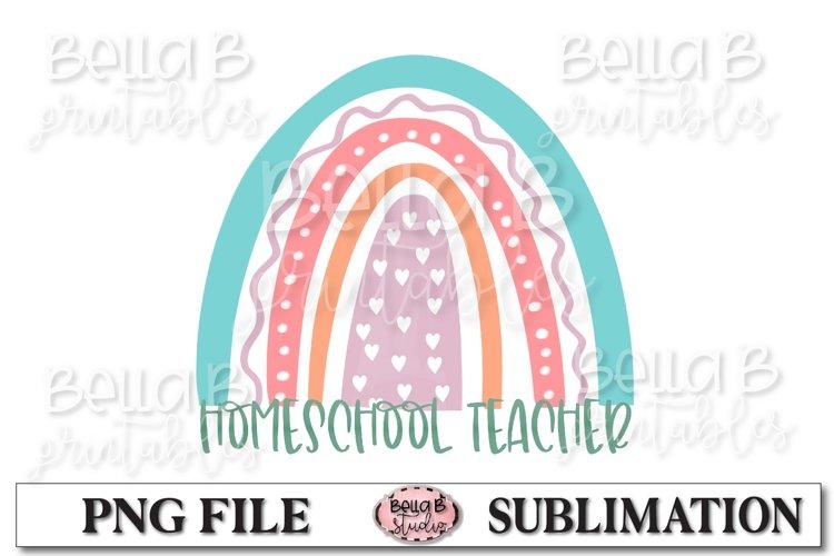 Rainbow - Home School Teacher Sublimation Design example image 1