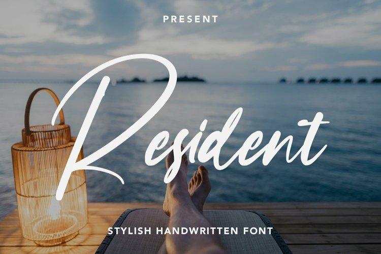 Web Font Resident - Stylish Handwritten Font example image 1
