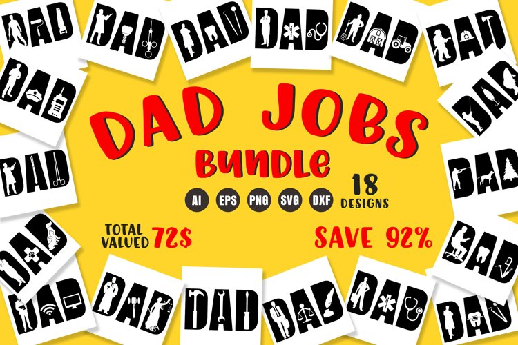 Dad Jobs Bundle SVG - Father's Day Designs example image 1