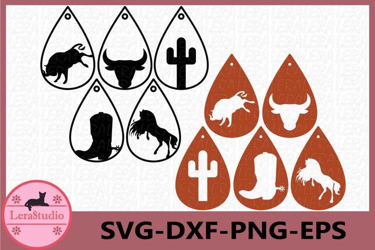 Earrings western Svg, Earrings SVG, Earrings Texas SVG example image 1