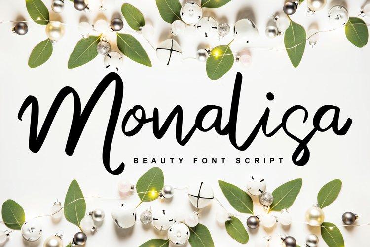 Monalisa | Beauty Script Handwritten example image 1