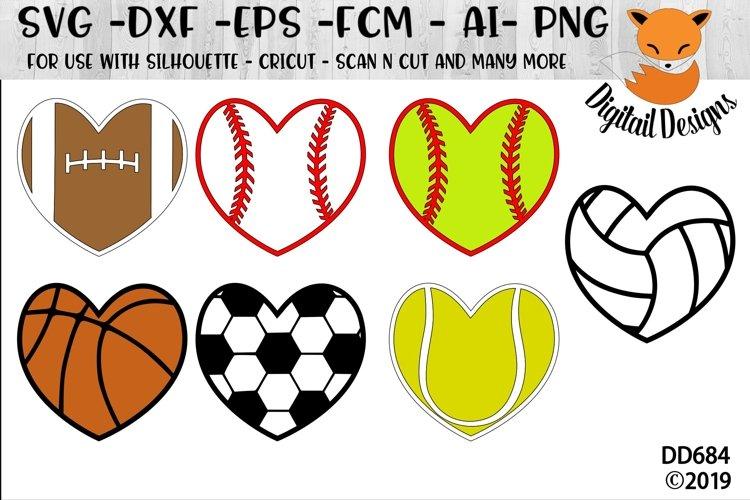 Sports Hearts Design Bundle SVG