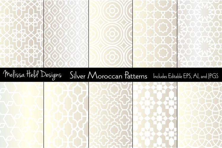 Silver Metallic Moroccan Patterns