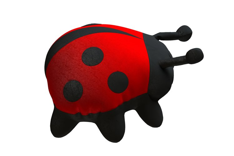 Ladybug PDF Plush Pattern Resizing example image 1