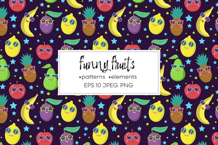 Vector collection of funny fruits