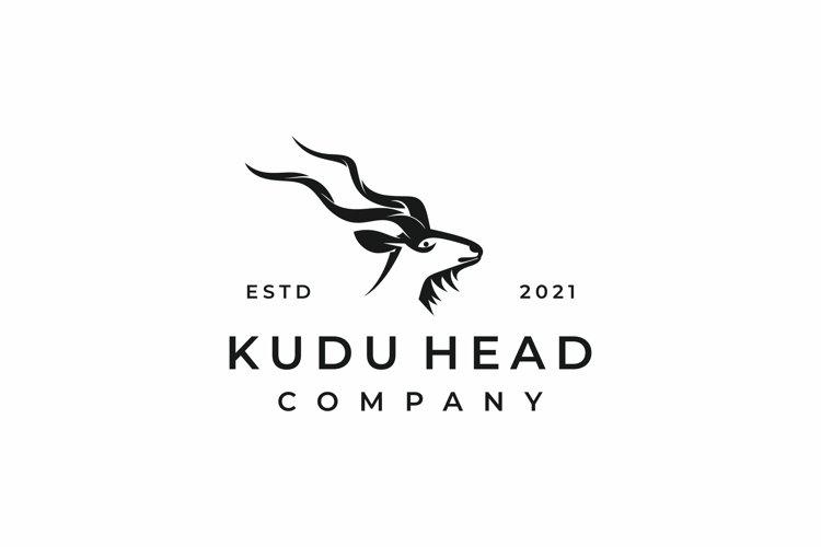 Kudu logo design vector illustration
