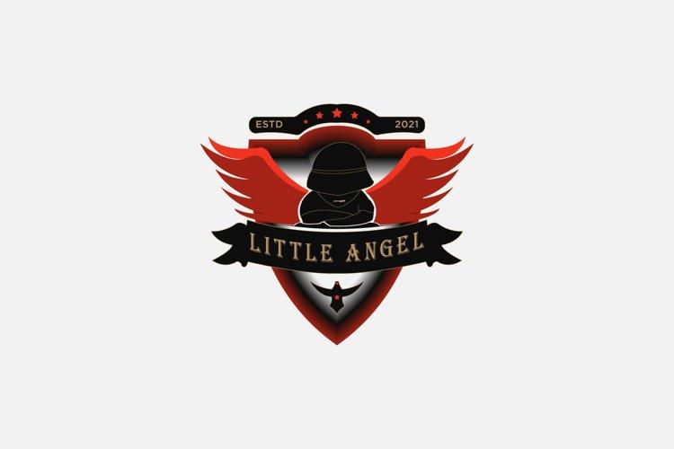 Little angel logo design, illustration