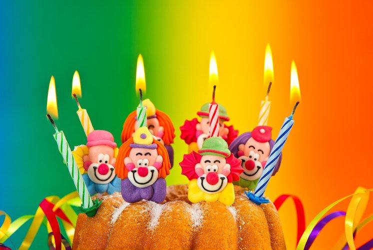 Birthday cake with burning candles decoration example image 1