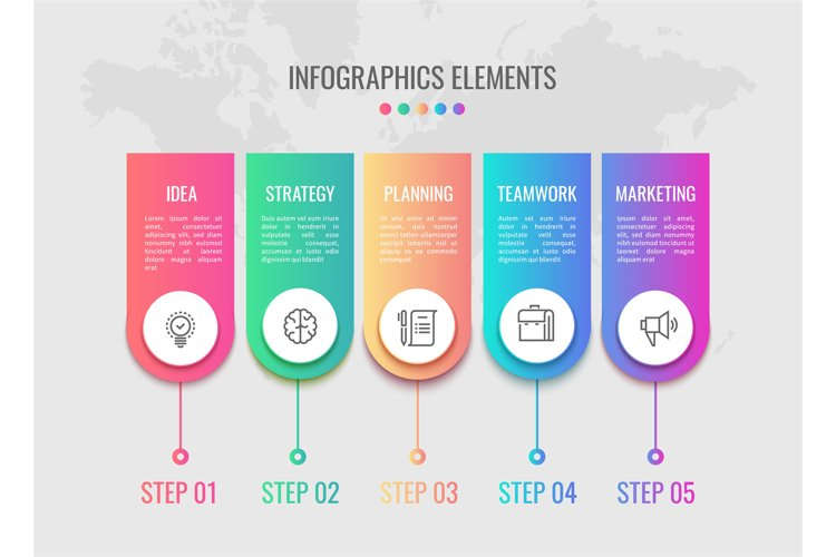 Cycle timeline. Business infographic elements timeline with