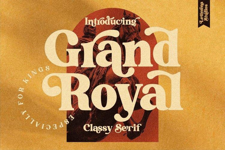 Grand Royal - Luxury Serif Font example image 1