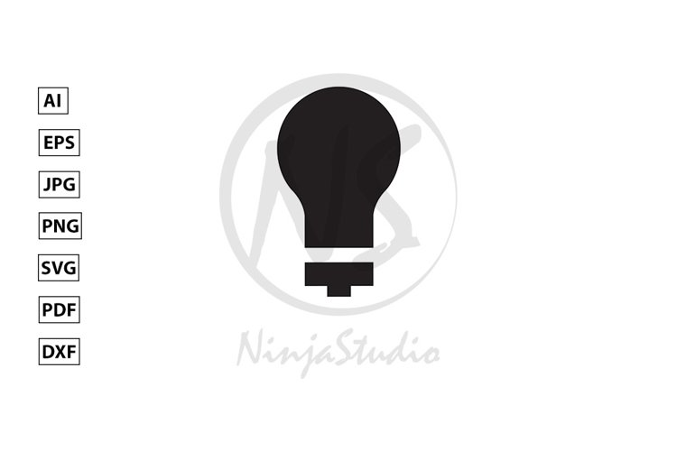 Light Bulb Icon In Flat Style Vector example image 1