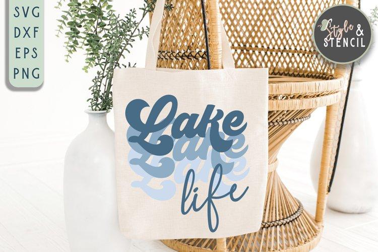 Lake Life SVG   Summer   Retro Shirt   Sublimation example image 1