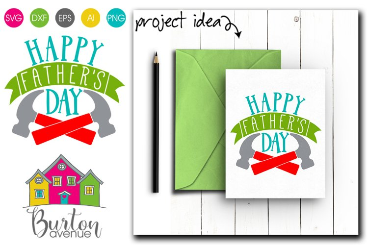 Happy Father's Day with Hammers SVG File example image 1