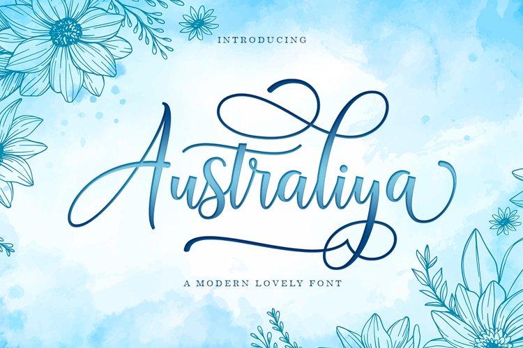 Australiya Script example image 1