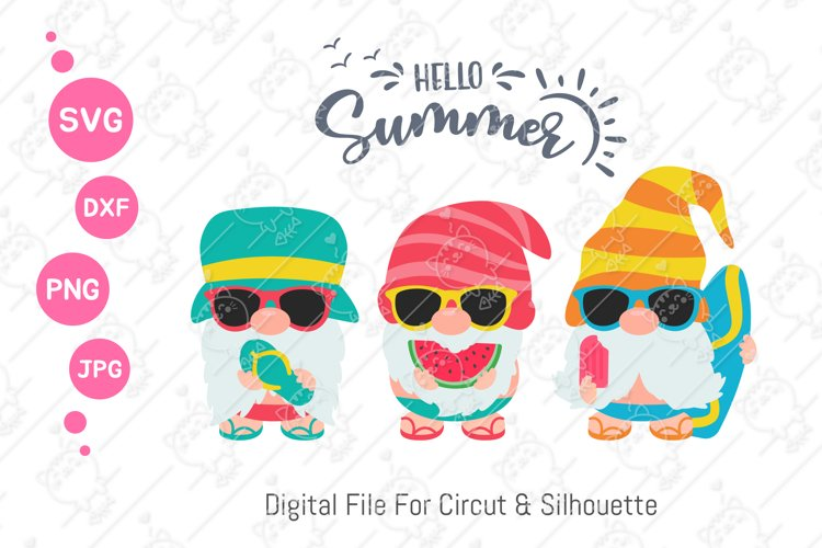 Gnomes Summer svg | Beach Gnomes |svg png dxf example image 1