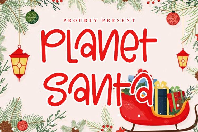 Planet Santa - Beautiful Christmas Font example image 1