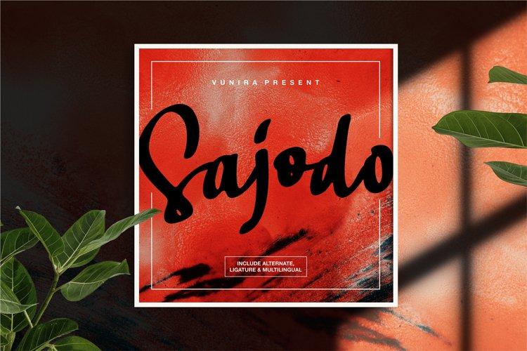 Sajodo | Handlettering Script Font example image 1