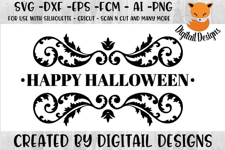 Happy Halloween SVG for Silhouette, Cricut, Scan N Cut example image 1