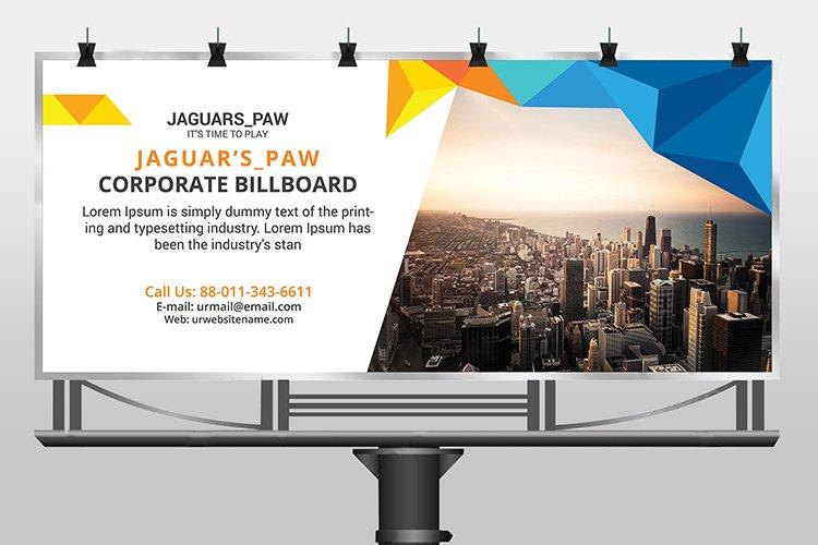 Professional corporate billboard template design example image 1
