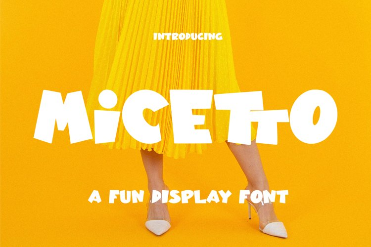 Micetto - Fun Display Font example image 1