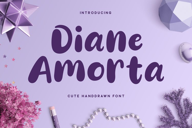 Diane Amorta - Cute Font example image 1