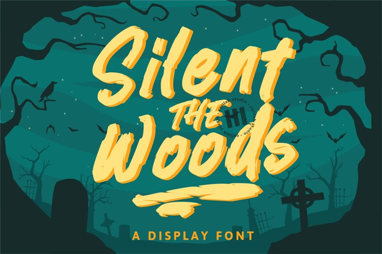 Silent Woods - A Display Font example image 1