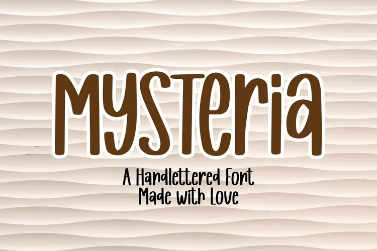 Web Font Mysteria - A Handlettered Font example image 1