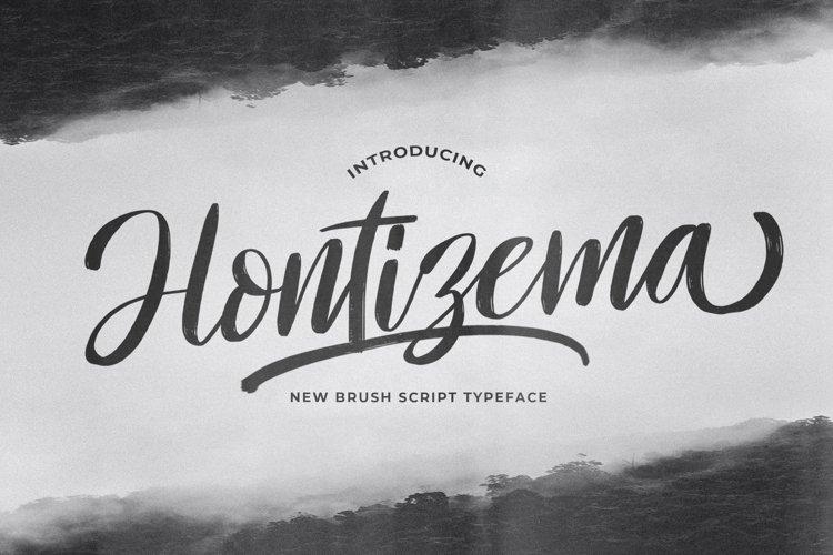 Hontizema - Handwritten Font example image 1