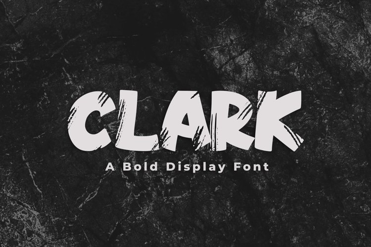 Clark - A Bold Display Font