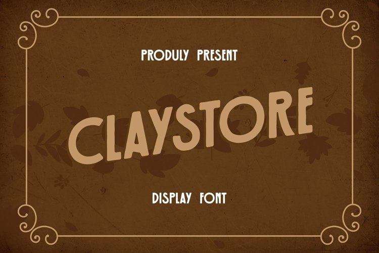 Web Font Claystore Font example image 1