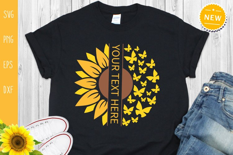 Sunflower Bundle Svg, Sunflower Svg, Sunflower Monogram Svg example 7