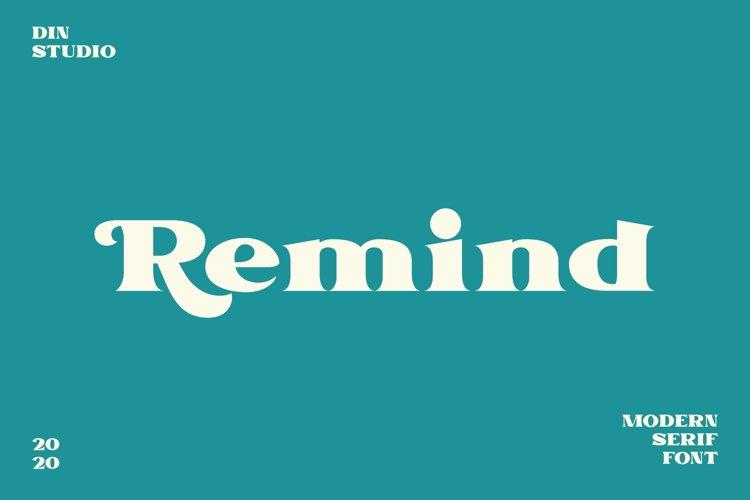 Remind-Modern Serif Font example image 1